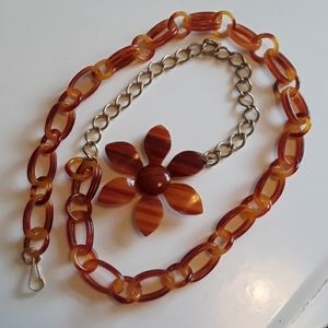 Accessories - Mod/Hippie Style Belt with Flower